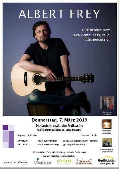 Live-Konzert: Albert Frey