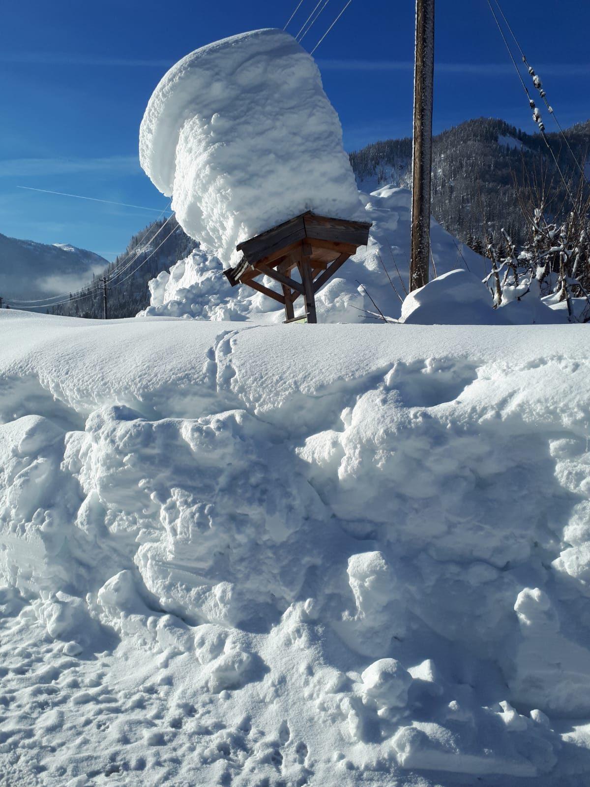 Winter am Wiedhölzlkaser- eine Schneeburg
