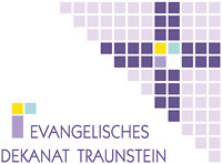 Das Logo des Evangelischen Dekanats Traunstein.