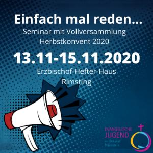 """""""Einfach mal reden...""""- Herbstkonvent 2020 @ Erzbischof Hefter Haus"""