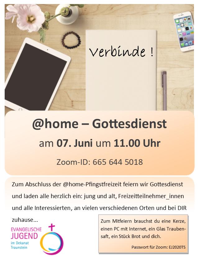 Zoom-@home-Gottesdienst