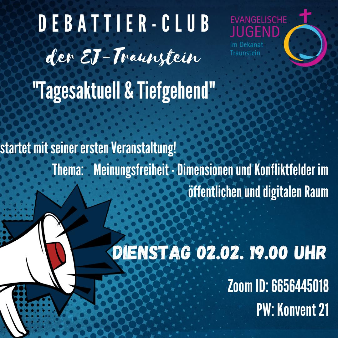Debattier-Club der EJ-Traunstein startet!